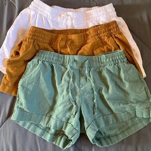 THREE OLD NAVY SHORTS